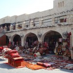 Carpet selling in Souq Waqif