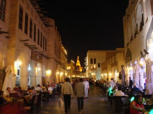 Road side restaurants at the souq